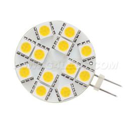 Free Shipment ! LED G4 Spot light 12leds smd 5050 AC DC10-30V 12V 24V Dimmable Bulb White 2.4W