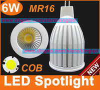Wholesale DC12V MR16 LED Spotlight W COB Lumen Super Bright lamp white color bulbs lights