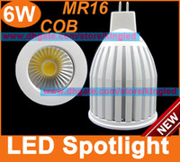 Wholesale MR16 LED Spotlight W COB LM DC12V Bright lamp white color bulbs lights