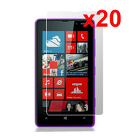 Wholesale Guard High Clear LCD Screen Protector Shield Skin Film For Nokia Lumia N820 Anti Dirt