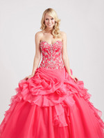 Wholesale Top Selling Designer Quinceanera Dress Princess Ballgown Style Adult Formal Occasion Pageant Gown