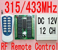 Wholesale 12 CH Radio Controller RF Wireless Remote Control Switch