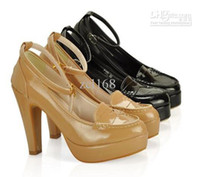 Wholesale Women Platform Point Toe Ankle Strap High Heel Pumps New Sweet Shoes Size US