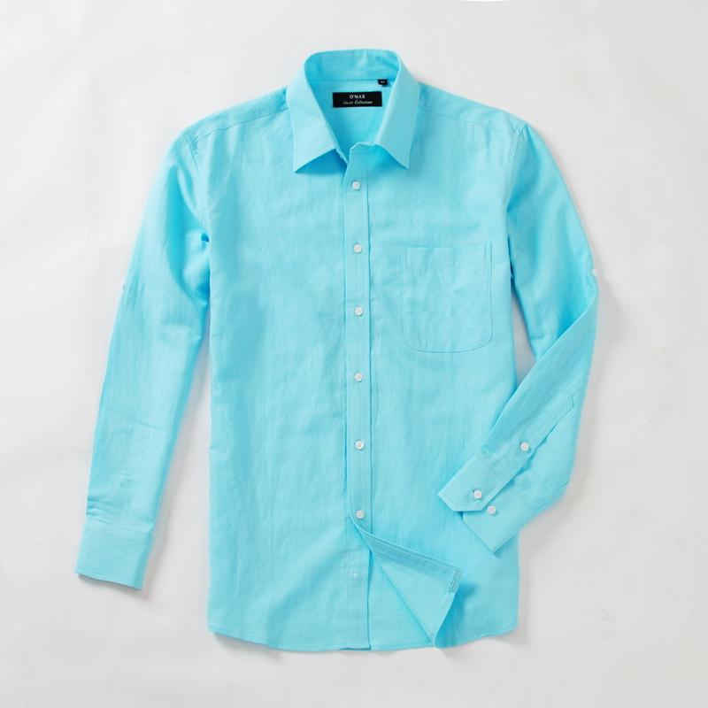 Men's Shirt Cotton Linen Shirt Long Sleeve Shirt Woven Shirt ...