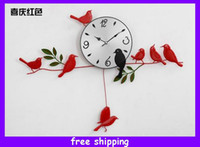 Wholesale New Arrival Decorative Quartz Little Bird Wall Clock Art Deco Clock Colors
