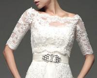 Wholesale Elegant White Red Organza Wedding Jacket Bridal Wraps