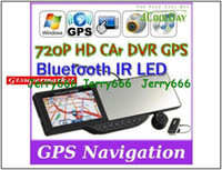 640x480 600MHZ GPS Navigator 5'' inch Touch Screen Rear view mirror GPS with DVR, Bluetooth headset, AV, bluetooth, 2PCS 4G card