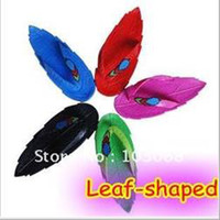 Wholesale 2013 New Arrival Leaf shaped Fashion Women s Slipper US SIZE Novelty Items