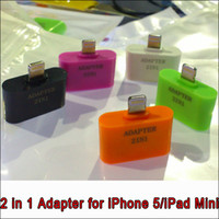 Wholesale CN in pin to pin amp Micro pin adapter for iPhone G iPod Touch5 and iPod Nano7
