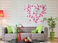 Wholesale 3D Wall Sticker Butterfly Home Decor Decorations Pop up Stickers S cm for Door Closet X0006