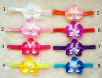 Flower Headbands Halloween 8color Moth orchids (Peony) Children's Hair Accessories Girls Head Flower Clip,Headband, hair band