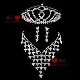 The bride accessories piece set accessories necklace earrings wedding jewellery bridal accessories 23