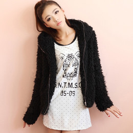 Wholesale New Arrival women faux fur coats long sleeve hooded fashion overcoats casual black overcoat
