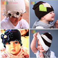 Wholesale TOP BABY hats boys girls fashion cute cotton caps flower infant HAT baby headwear cldzsz