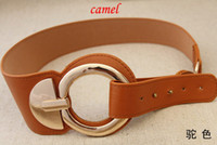 Wholesale 1pcs fashion large metal head reverse buckle belt Korean all match belt female color YD002