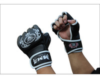 Wholesale Kangrui half finger boxing gloves professional training gloves play sand bag mma gloves