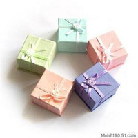 Wholesale 96pcs Assorted Colors Jewelry Ring Box x4x3cm Jewelry Packaging Ring amp Earring Gift Box