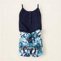 Sample baby girl kids floral jumpsuits (tank top bodice + sh...