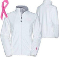 Wholesale Spring PINK RIBBON OSITO JACKET WOMENS Winter White Breast Cancer women Fleece jacket Kailas Jacket S XXL