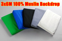 Wholesale 2pcs x6m x20ft Photography Studio Photo Chromakey Muslin Backdrop Background Green Black Whi