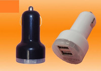 Wholesale Brand New Dual Port USB Car Charger v DC for iPad iPhone G iPod A HTC EVO G DHL Fedex
