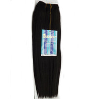 Wholesale Passion Blend Hair Yaki Wave inch Color1B Human Hair Blend Synthetic Hair Weave