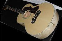 Wholesale best Factory guitar j200 CUSTOM Artist Ebony fingerboard Acoustic Guitar in stock