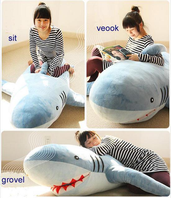 2017 70 Giant Huge Big Shark Stuffed Animal Plush Soft Toy