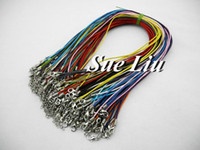 Wholesale Colors Random Delivery mm Mixed Color Waxed Cotton Necklace Cord With Lobster Clasp NCA