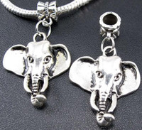 Wholesale Tibetan Silver Elephant Charms Beads Fit European Braceelt mm