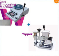 Wholesale Bundle Embossing Machine magnetic ID PVC Card Embosser Tipper For ID PVC Cards
