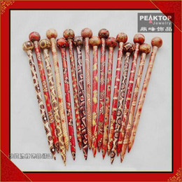 Wholesale fashion Handcraft Wood Hair sticks free shpping
