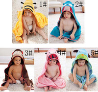 Wholesale Fashion Children Cute Cartoon Towels Robes Baby Bathroom Towels Kids Bath Towels Beach Cotton Towels