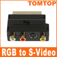 adapter scart video - Brand New GOLD PLATE RGB Scart to Composite RCA S Video AV TV Audio Adapter C325