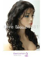 Wholesale Full lace wigs amp front lace wigs GLUELESS silk straight or body wave Brazilian virgin hair free sh