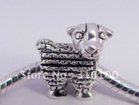 Wholesale silver bracelet fit gift Sheep animal charm beads new