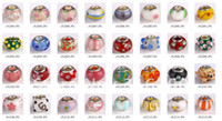 Wholesale 100pcs silver coloured glaze charm beads new
