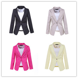 Wholesale HOT Candy Colors Women s A Buckle Slim Casual Lady Style Suit Jacket Blazer Colors Available