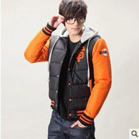 Wholesale 2013 new autumn and winter fashion embroidery personality hooded Baseball Jersey Mens Cotton Jacket