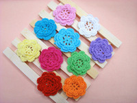 Wholesale crochet cotton flower applique a shipping free