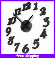 Wholesale Brand New ModernTime Interior Decor Room Numbers DIY Wall Clock Kit Home Office Decor