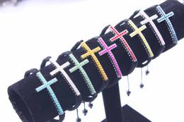Silver Sideways Cross Bracelet pearl charm Jewelry 20pcs Wholesale