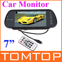 """DVD/VCD Player FM Radio Roof Professional 7"""" Color TFT LCD Car Rearview Monitor support SD USB MP5 FM Transmitter,car video K380"""