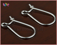 Wholesale PJ00025 solid Sterling silver kidney earring earwire ear wire x17mm NEW
