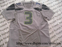 Wholesale Elite Gray American Football Jerseys Limited Authentic Stitched Rugby Jersey