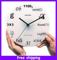 Wholesale New Arrival Creative Geek Math Number Digital Wall Clock Decorative Wall Clock cm