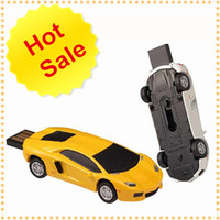 USB Flash Drive In Yellow White Black Super Car Design Made ...