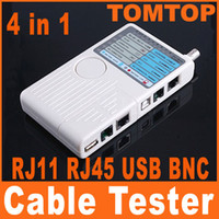 Cheap Remote RJ11 RJ45 USB BNC LAN Network Phone Cable Tester Meter Free Shipping C1047