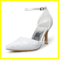 Wedding Shoes Women other Graceful 2012 Hot Wedding Bridal Prom Shoes Lace Strappy 10CM White Dancing High Heels Summer Lady's Pumps 19022