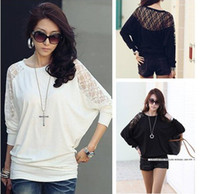 Wholesale NEW HOT Fashion trendy Cozy women ladies Noble clothes Tops Tees T shirt Long sleeved